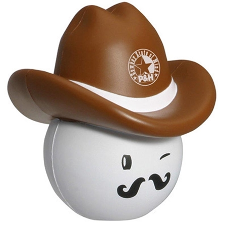 Picture of Custom Printed Cowboy Mad Cap Stress Ball