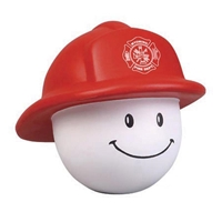 Picture of Custom Printed Fireman Mad Cap Stress Ball