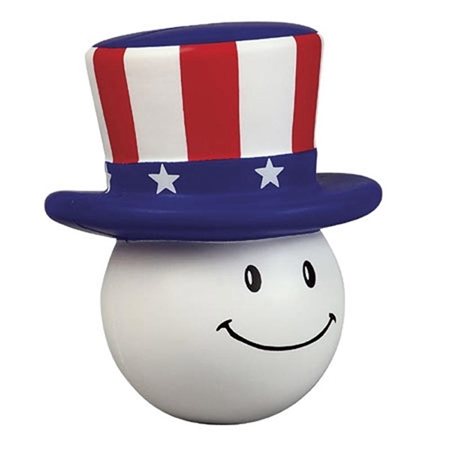 Picture of Custom Printed Patriotic Mad Cap Stress Ball