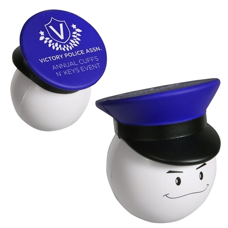 Picture of Custom Printed Policeman Mad Cap Stress Ball