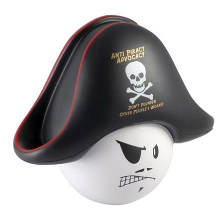 Picture of Custom Printed Pirate Mad Cap Stress Ball