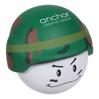Picture of Custom Printed Soldier Mad Cap Stress Ball