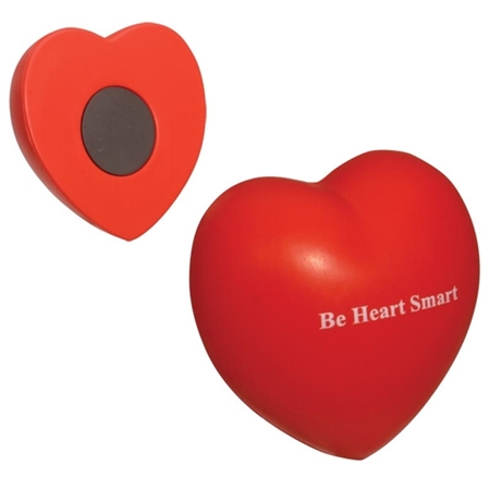 Picture of Custom Printed Valentine Heart Magnet Stress Ball