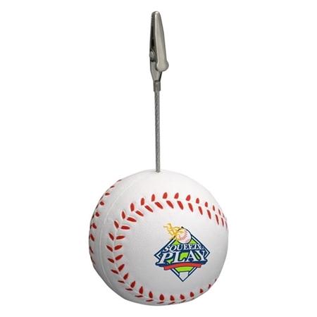 Custom printed Baseball Memo Holder Stress Ball