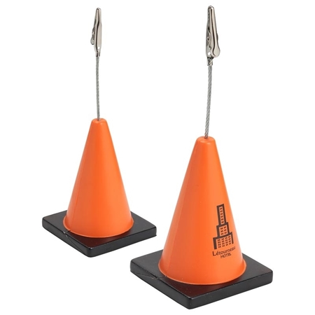 Promotional Construction Cone Memo Holder Stress Ball
