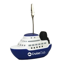 Picture of Custom Printed Cruise Boat Memo Holder Stress Ball