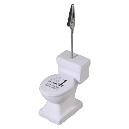 Picture of Custom Printed Toilet Memo Holder Stress Ball