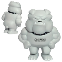 Promotional Bulldog Mascot Stress Ball