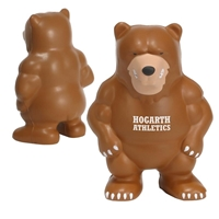 Picture of Custom Printed Bear Mascot Stress Ball