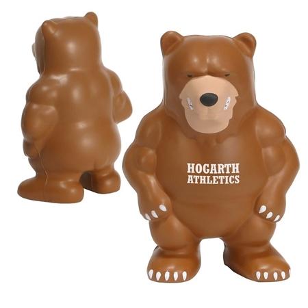 Custom Bear Mascot Stress Ball
