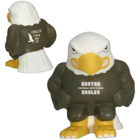Promotional Eagle Mascot Stress Ball