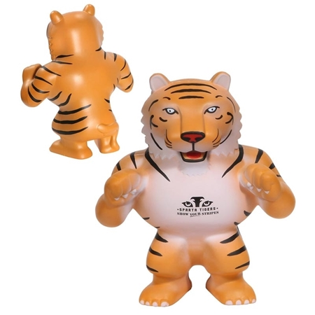 Picture of Custom Printed Tiger Mascot Stress Ball