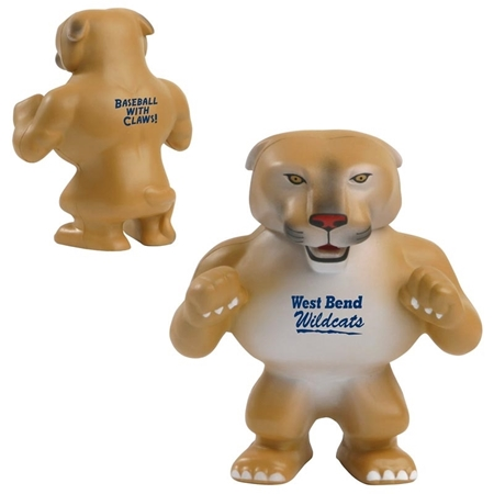 Picture of Custom Printed Wildcat-Cougar Mascot Stress Ball