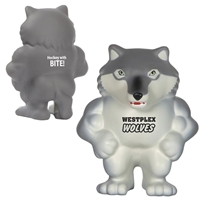 Promotional Wolf Mascot Stress Ball