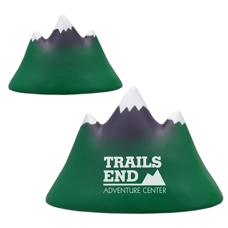 Picture of Custom Printed Mountain Peak Stress Ball