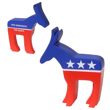 Picture of Custom Printed Democratic Donkey Stress Ball