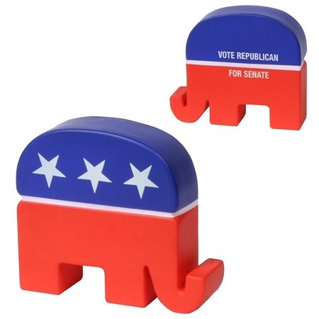 Picture of Custom Printed Republican Elephant Stress Ball
