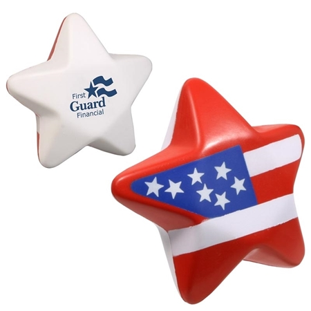 Picture of Custom Printed Patriotic Star Stress Ball