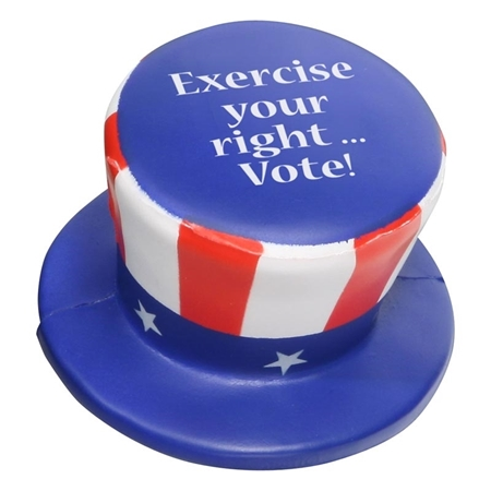 Promotional Uncle Sam Hat Stress Ball