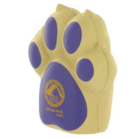 Dog Paw Stress Ball with Logo