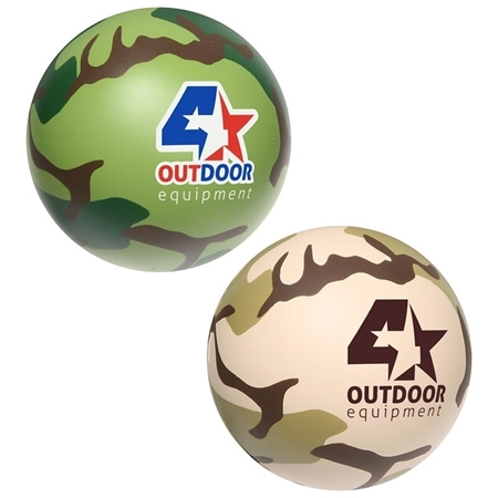Promotional Camouflage Stress Balls