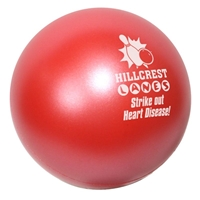 Red Imprinted Jewel Stress Ball