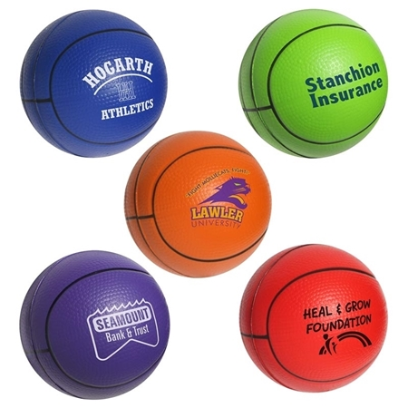 Custom printed Basketball Stress Bal