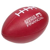 Red Custom Football Stress Ball