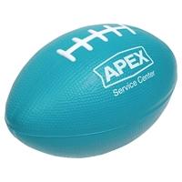 Blue Branded Football Stress Ball