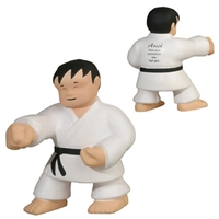 Picture of Custom Printed Karate Man Stress Ball