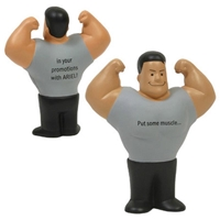 Picture of Custom Printed Muscle Man Stress Ball