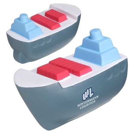 Promotional Cargo Boat Stress Ball