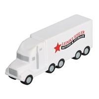 Branded White Semi Truck Stress Ball