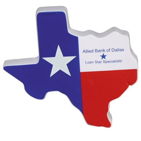 Picture of Custom Printed Lone Star State Stress Ball