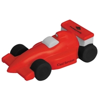 Red Imprinted Race Car Stress Ball