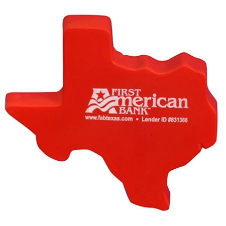 Promotional Texas Shape Stress Ball