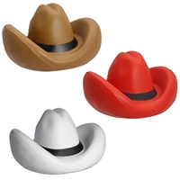 Picture of Custom Printed Cowboy Hat Stress Ball