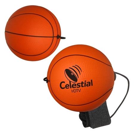 Picture of Custom Printed Basketball Yo-Yo Bungee Stress Ball