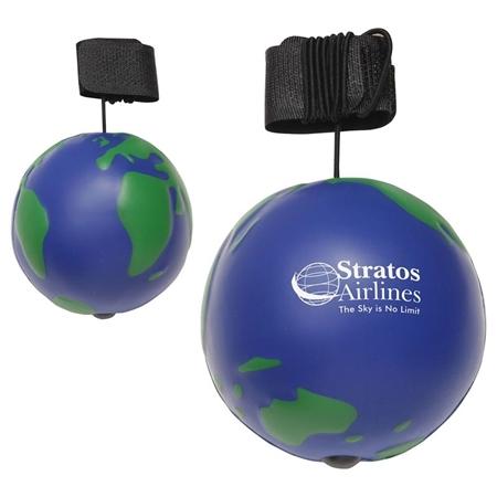 Promotional Earthball Yo-Yo Bungee Stress Ball