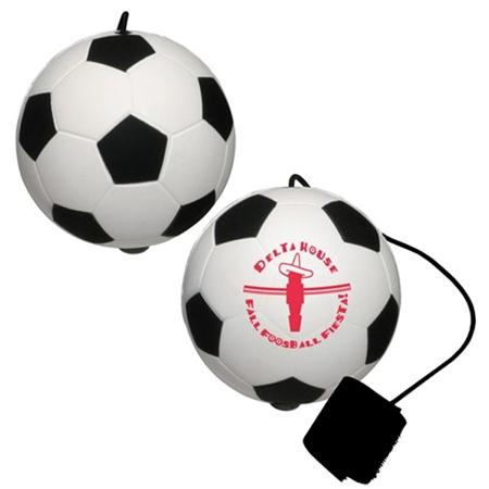 Picture of Custom Printed Soccer Ball Yo-Yo Stress Ball