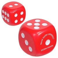 Picture of Custom Printed Dice Stress Ball