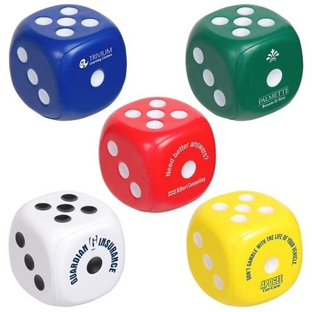 Customizable Dice Stress Balls