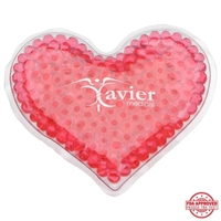 Picture of Custom Printed Heart Gel Beads Hot/Cold Pack