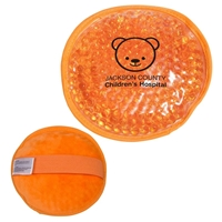 Picture of Custom Printed Plush Round Gel Beads Hot/Cold Pack