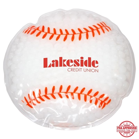 Picture of Custom Printed Baseball Hot/Cold Pack