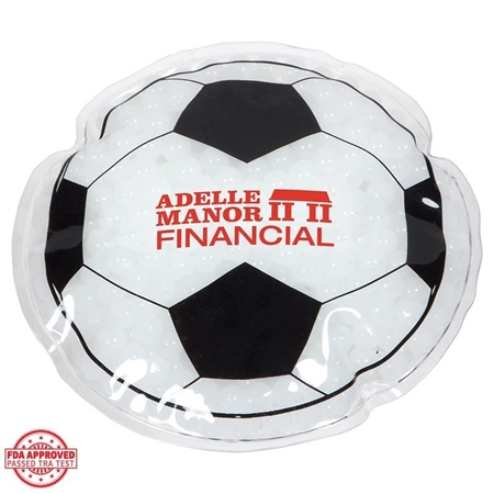 Picture of Custom Printed Soccer Ball Hot/Cold Pack