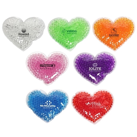 Picture of Custom Printed Large Heart Gel Hot/Cold Pack