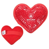 Customizable Plush Heart Hot/Cold Packs