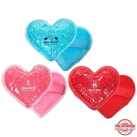 Picture of Custom Printed Plush Heart Hot/Cold Pack