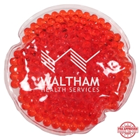 Picture of Custom Printed Round Aqua Pearls Hot/Cold Pack